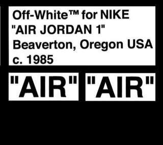 """Sneaker Custom Off-White """"AIR"""" Stencil #APR75"""