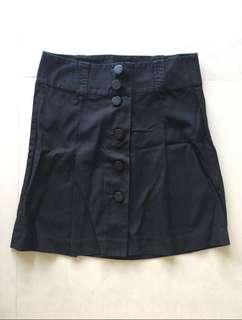 🚚 French Connection black cotton skirt UK 10