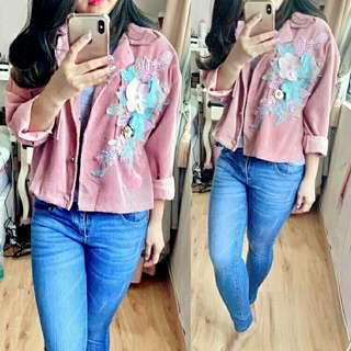 JAKET FLORA IMPORT (REAL PICTURE) - PINK