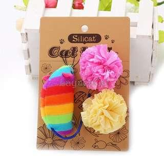 [Ready Stock] CT068 Cat Toys Set - Rainbow Mouse