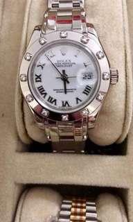 Rolex Date-Just Pearlmaster White Gold.18k with Diamonds Like New All Complete Ladies