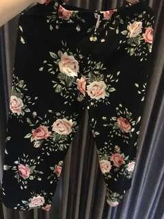 Celana Kulot floral pants
