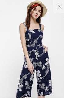 Love Bonito open back floral jumpsuit