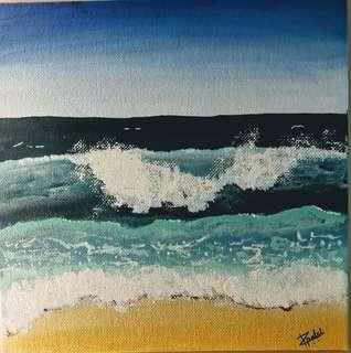 waves acrylic painting