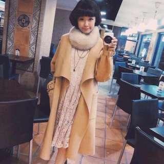 🚚 正韓羊毛長版大衣