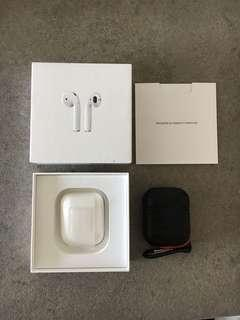 Airpods only 在耳 (includes case)