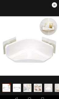 🚚 Corner shelf storage kitchen bathroom shower toiletries rack