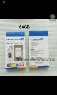 🚚 2 in 1 64GB Android and iOS USB I Flash Drive For iPhone card reader