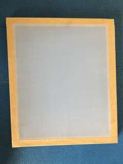 Silkscreen with wooden frame