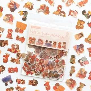 [100 stickers] A Little Happiness Scrapbook / Planner Stickers #347