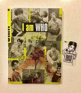 STRAY KIDS (I'M WHO) CD ALBUM + PHOTO BOOK +1P QR TRANSPARENT CARD - NO PHOTOCARD