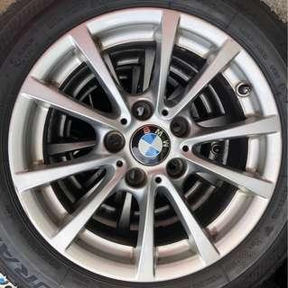 "4 X 16"" BMW Rims, 5x120, 16""x7"", Offset 31"