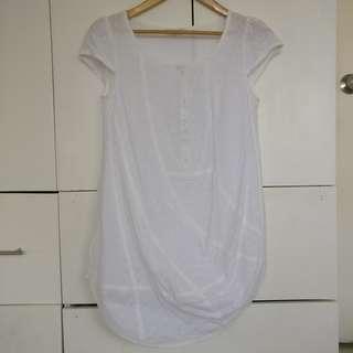Plain White Maternity Pregnancy Blouse Top
