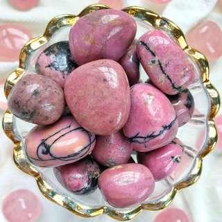 🚚 Rhodonite Extra Quality Tumbled Stones