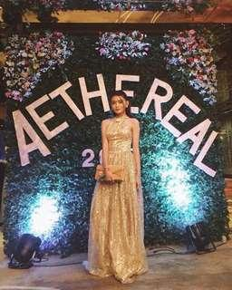 Gold sparkly gown for rent (for skinny girls)