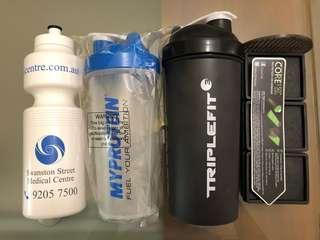 3 water bottles NEW