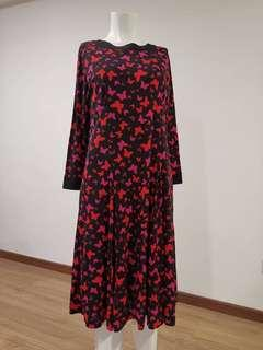 100% Japan imported preloved high quality butterfly long dress