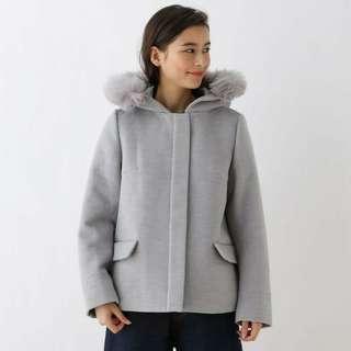 🚚 二手 八成新 日本品牌 OZOC 寬版灰色外套