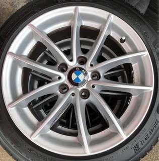"4 X BMW 17"" Rims, 5x120, 17""x7.5"", Offset 32"