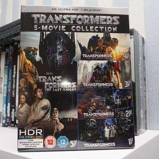 Transformers 5 Movie Collection 4k Ultra HD Blu-ray
