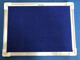 Blue Cloth Push Pin with aluminium frame wall mounted