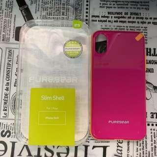 🚚 PureGear普格爾 極薄保護殼-桃 iPhone XS
