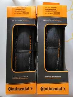 Continental Ultra Sport 2 Road Tyre 25x700c (Pair)