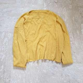 Brandy Melville Laila Top in Mustard Yellow