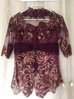 Purple Lace Kebaya