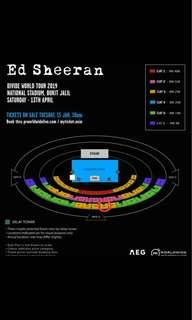 ED SHEERAN LIVE IN KL (CAT 3)