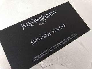 🚚 YSL Beauty 10% off voucher