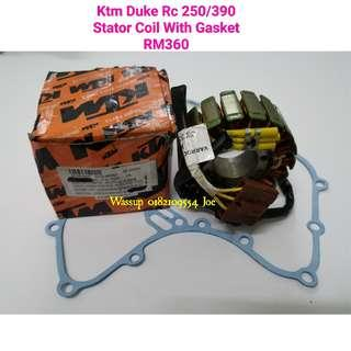Original Ktm Duke Rc 250 n 390 Stator Coil With Gasket rm360