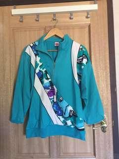 Vintage aqua pullover