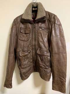 🚚 ☆Superme本舖☆英國極度乾燥Superdry 皮衣高價款Tar Pit Leather Jacket 正品 尺寸L