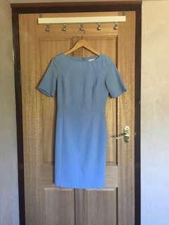 Pale blue dress