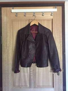 Leather jacket maroon