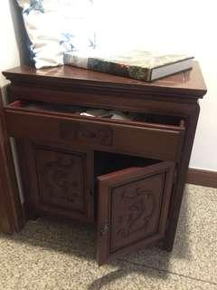 Antique rosewood side cabinet