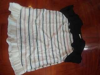 雪紡横間上衣 胸闊48cm 衫長75cm 適合M碼