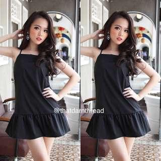 Kissablebella Dropwaist Dress in Black