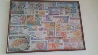 1980s money currency jigsaw