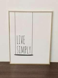 Nordic Quotes Canvas Poster Printing