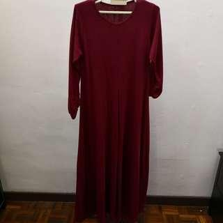 Long dress ala jubah