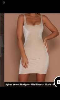 Meshki mini velvet dress XS
