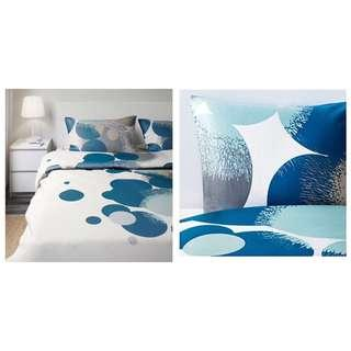 Ikea (Queen) Bolltistel Quilt Cover With 4-Pillowcases (200x200cm)