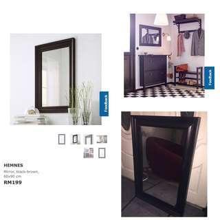 Ikea - Hemnes Mirror, Black (60x90cm)
