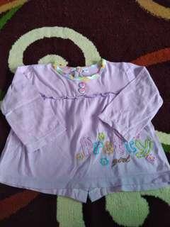 Baju bayi lengan panjang (ungu)