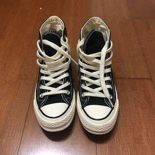 🚚 Converse ChuckTaylor1970側黑標黑色高筒帆布鞋