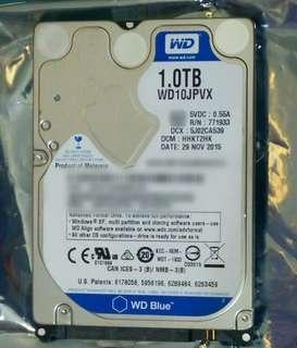 "western digital blue 1tb 1000gb 2.5"" 9.5mm 5400rpm sata 3 harddisk drive"