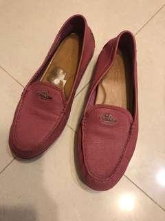 🚚 Coach 珊瑚粉紅超軟皮鞋
