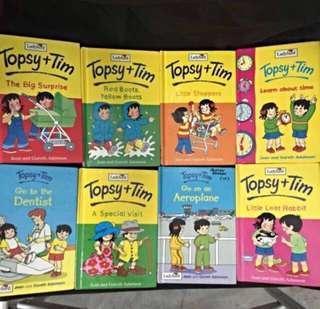 🚚 Set Of 8 children's Book - Topsy +Tim -Ladybird Series